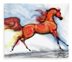 Staceys Arabian Horse Fleece Blanket