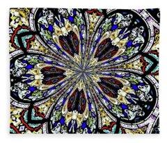 Stained Glass Kaleidoscope 38 Fleece Blanket