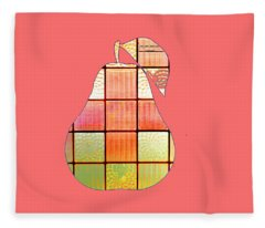 Stained Glass Pear Fleece Blanket