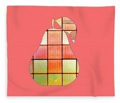 Stained Glass Pear Fleece Blanket