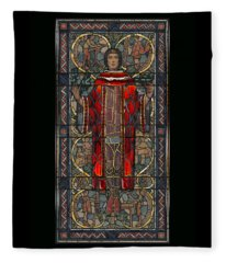 Stained Glass Window 1928 - Remastered Fleece Blanket
