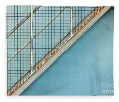 Stairs On Blue Wall Fleece Blanket