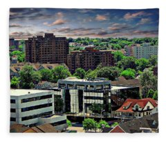 Stamford Cityscape Fleece Blanket