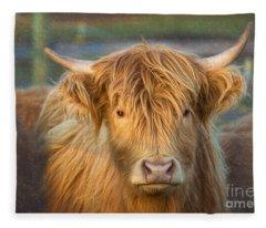 Standing Out In The Herd Fleece Blanket