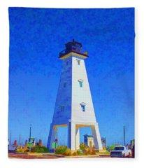 Standing Proud Lighthouse Fleece Blanket