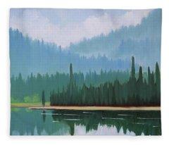 Stanley Lake - Far Shore Fleece Blanket