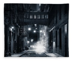 Staple Street Skybridge By Night Fleece Blanket