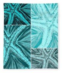 Starfish Pop Art Fleece Blanket