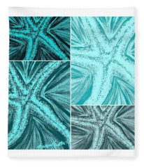 Starfish Pop Art Fleece Blanket