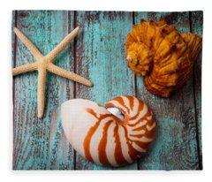 Star Shell Still Life Fleece Blanket