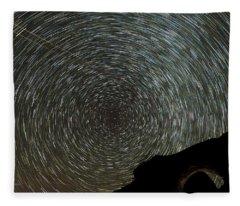 Star Trails Fleece Blanket