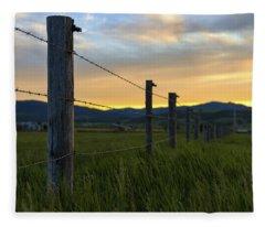 Wyoming Valley Fleece Blankets