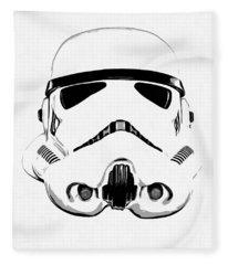Star Wars Stormtrooper Helmet Graphic Drawing Fleece Blanket