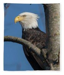 Staredown By Eagle  Fleece Blanket