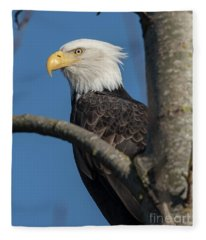 Staredown By Eagle  Fleece Blanket