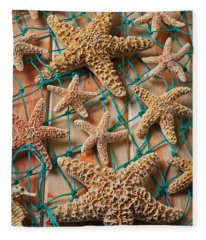 Starfish In Net Fleece Blanket