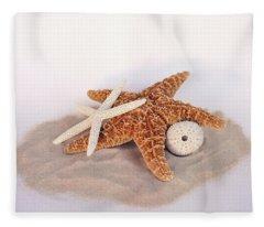 Starfish Still Life Fleece Blanket