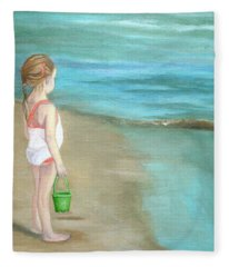 Staring At The Sea Fleece Blanket