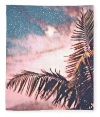 Starlight Palm Fleece Blanket