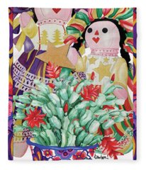 Starring The Christmas Cactus Fleece Blanket