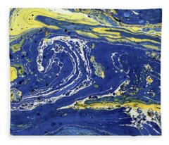 Starry Night Abstract Fleece Blanket