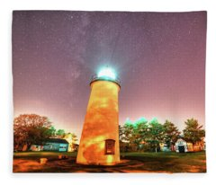 Starry Sky Over The Newburyport Harbor Light Fleece Blanket