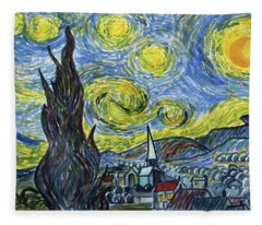 Starry, Starry Night Fleece Blanket