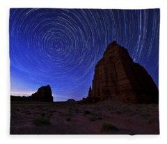 Night Photographs Fleece Blankets