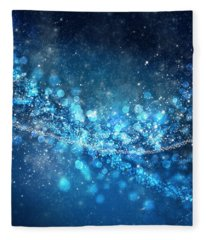 Stars And Bokeh Fleece Blanket