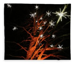 Stars In The Tree Fleece Blanket