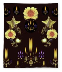 Stars Over The Sacred Sea Of Candles Fleece Blanket