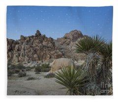 Stars Shining Over Indian Cove Fleece Blanket