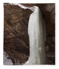 Starved Rock Icefall Fleece Blanket