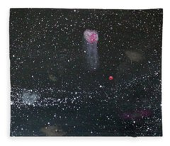 Fleece Blanket featuring the painting Starry Night by Michael Lucarelli