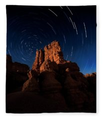 Stary Trails At Red Canyon Fleece Blanket