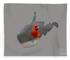 State Bird Of West Virginia Fleece Blanket