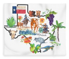 State Of Texas As I Know It Fleece Blanket