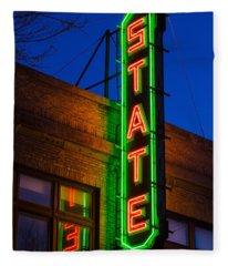 State Theatre - Ithaca Fleece Blanket