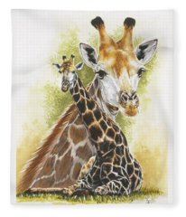 Fleece Blanket featuring the mixed media Stateliness by Barbara Keith