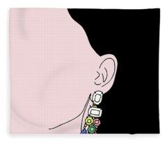 Fleece Blanket featuring the digital art Statement by Cortney Herron