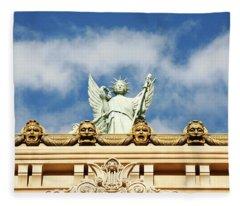 Statue Liberty Venetian Hotel Fleece Blanket