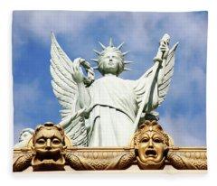 Statue Of Liberty At Paris Hotel In Vegas Fleece Blanket