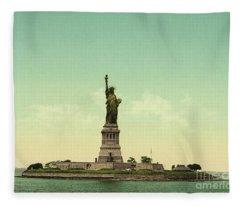 Statue Of Liberty, New York Harbor Fleece Blanket