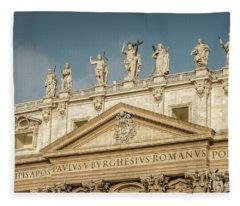 Statues Of St Peter's Basilica Fleece Blanket