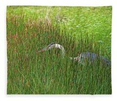 Stealth Heron Fleece Blanket