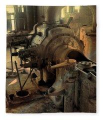 Steam Engine No 4 Fleece Blanket