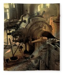Steam Engine No 4 Fleece Blanket