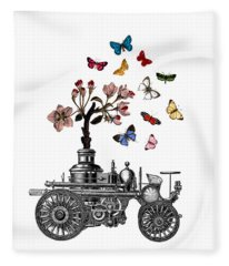 Steam Engine Of Life Fleece Blanket