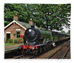 Steam Locomotive In England Fleece Blanket