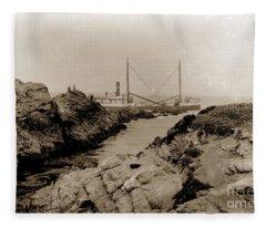 Steam Schooner S S J. B. Stetson, Ran Aground At Cypress Point, Sep. 1934 Fleece Blanket